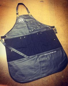Custom leather and canvas barber apron by Search & Rescue denim Co. Barber Apron, Work Aprons, Custom Aprons, Search And Rescue, Custom Leather, Barber Shop, Leather Bag, Denim, Salons