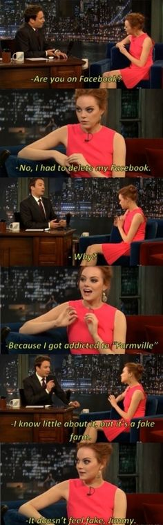 Emma Stone and Facebook...