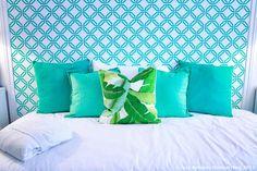 Querido Mudei a Casa - cabeceira de casa em papel de parede