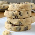 Peanut Butter Chocolate Chip Shortbread Cookies-- It's made with creamy peanut butter, sea salt and milk chocolate chips.  These cookies have a melting texture, and I'm sure I don't need to tell you about the magical combination of peanut butter and milk chocolate.  They'll even stick a wee bit to the roof of your mouth…have a cold glass of milk ready.