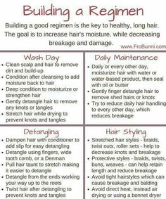 Natural hair regimen