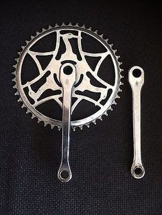 Vintage Raleigh Heron Bicycle Crank Chainset Suit 3 Speed Superbe Path Racer 48T
