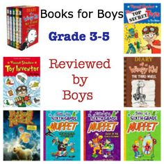 Book List and Guest Post: Books FOR boys, reviewed BY boys.