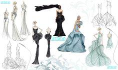 profesyonel kıyafet tasarımları çizimleri karakalem 16