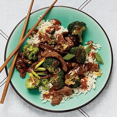 How to Cook Superfast Beef-Broccoli Stir-Fry  http://www.cookinglight.com/food/quick-healthy/how-to-cook-beef-broccoli-stir-fry-00412000072330/