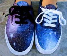 ideas about Galaxy Shoes Painted Canvas Shoes