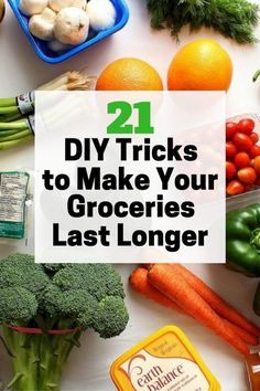 There are a lot of ways to preserve groceries to save time, effort and money�