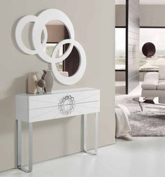 Salles de Bain Armature métallique Miroir mural avec Hanging Hook Blue Canyon 2 couleurs