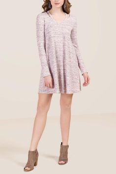 Cora Clavicle Ribbed Knit Dress | francesca's