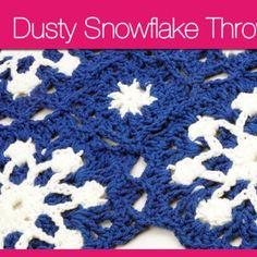 Dusty Snowflake Throw + Video Tutorial