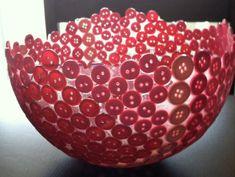 pink button bowl