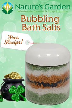 Free Bubbling Bath Salts Recipe by Natures Garden