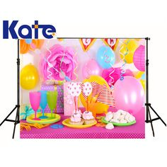 Consumer Electronics Motivated Allenjoy Photophone Photocall Pink Candy Bar Oils Canvas House Lollipop Path Baby Child Dessert Table Photo Background Backdrop Camera & Photo