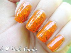 Orange Jelly Sandwich Nails http://ilovenailcandy.blogspot.com/2013/05/the-31-day-nail-challenge-day-17-glitter.html