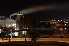 JD Irving Pulp and Paper Mill located at Reversing Falls in Saint John, New Brunswick Canada. HDR image of 5 photos separated by 1/2 stop and 10-30second exposure.