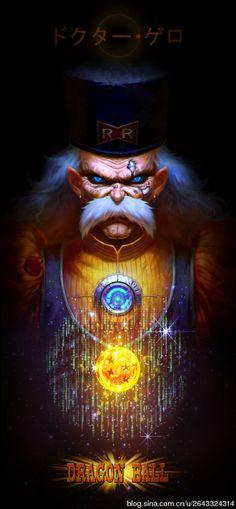 FanArt Dragon Ball - Dr Gero Cyborg - By Angus