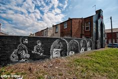 Dave Wood image of Beatles mural on Croxteth Ave. in Liverpool.