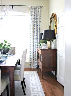 Hi Sugarplum | Dining Room Before & After DIY drapes