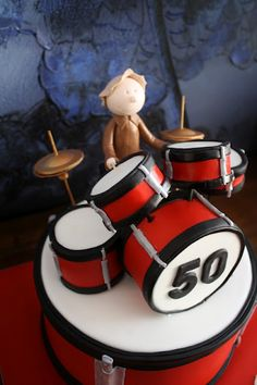 Drum Set Cake |Pinned from PinTo for iPad|