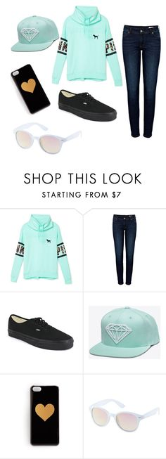 """Cute outfit for teen girls"" by krspillman ❤ liked on Polyvore featuring Victoria's Secret PINK, Anine Bing, Vans and Charlotte Russe"