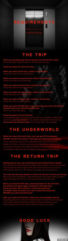 A dangerous game: Elevator to the Underworld. Play at your own risk.