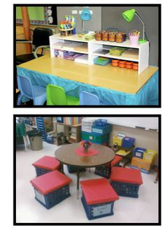 Make your own seat crates for extra storage in the elementary classroom!