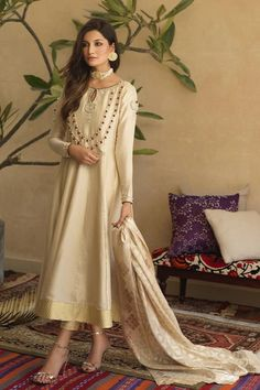 Silk Suit, Silk Pants, Designer Wear, Designer Dresses, Eid Dresses, Baby Dress, Shirt Dress, Formal, How To Wear