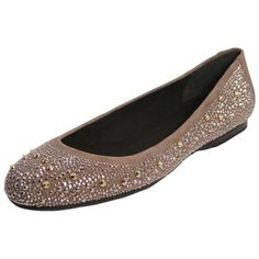 $201, Haze Tan Nubeads Suede Jeweled Ballet Flats 8 by Stuart Weitzman. Sold by buy.com. Click for more info: http://lookastic.com/women/shop_items/91721/redirect