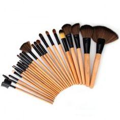 High-end Log Brush Sets Soft Cosmetic Face Make-up Brush Powder Brush for Lady (24Pcs)   Sammydress.com Mobile