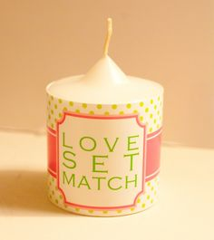 Tennis Party - An Easy Tennis Party Favor - Paper Wrapped Candle