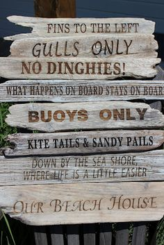 Sand Blasted Painted Beach House Signs