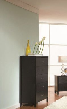 Shop Coaster Furniture Grove Black Chest with great price, The Classy Home Furniture has the best selection of Drawer Chests to choose from Coaster Furniture, Home Furniture, Chest Of Drawers, Contemporary Style, Filing Cabinet, Coasters, Classy, Storage, Wood
