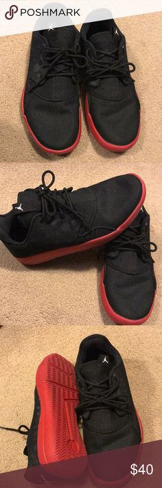 Jordan Great condition! Black & Red! Very comfortable! 6.5 kids = 8.5 in women's Jordan Shoes Sneakers