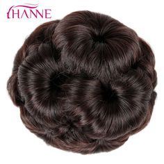 HANNE Hair Women Chignon Hair Bun Donut Clip In Hairpiece Extensions Black Brown Red Synthetic High. Click visit to buy #SyntheticExtensions