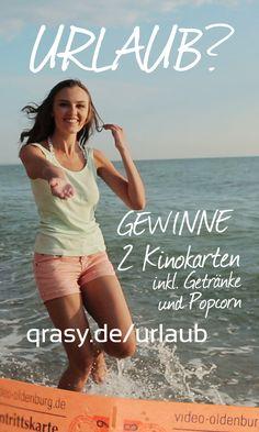 Kinokarten gewinnen. Einfach zum Thema Urlaub unter http://qrasy.de/urlaub einen kurzen Clip posten. Die drei mit den meisten Likes gewinnen.