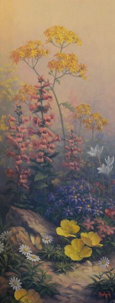 Dalhart Windberg - Texas Wildflowers II - 30x12 - Fredericksburg Art Gallery - www.FbgArtGallery.com