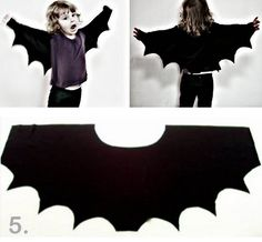 rainbowsandunicornscrafts:    DIY Easy Bat Wing Shrug for Halloween from My Poppet here. Or for dress up or because.     Truebluemeandyou: Let the Halloween posts begin.