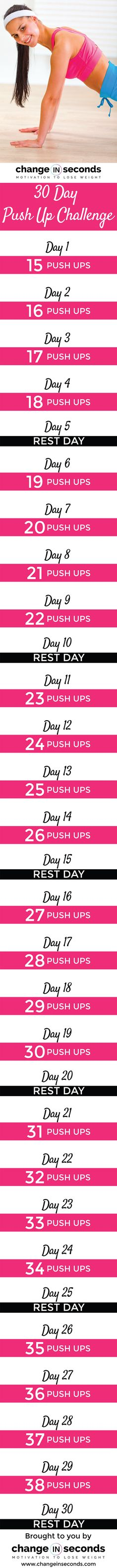 30 Day Push Up Challenge (Download PDF)