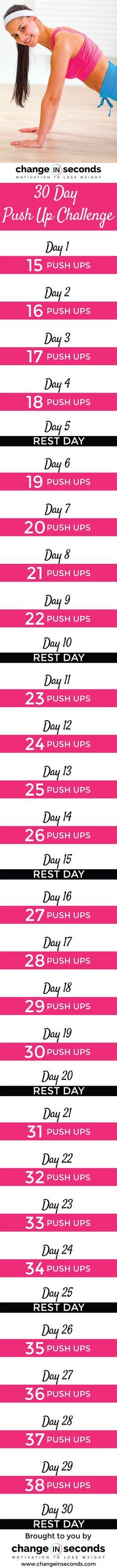 30 Day Push Up Challenge (Download PDF)