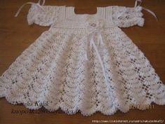 vestidos de tricô para bebe com receita