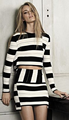 Love this striped outfit.