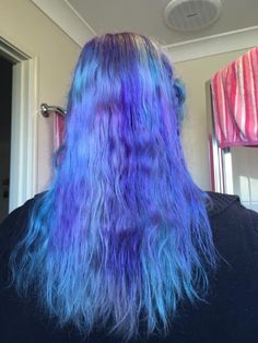 Purple and blue hair