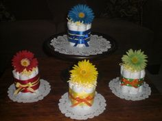 Flower Baby Shower Centerpieces Primary by bearbottomdiapercakes, $10.00