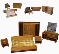 diePuppenstubensammlerin: 1960er Schlafzimmer - Rülke - 60s bedrooms