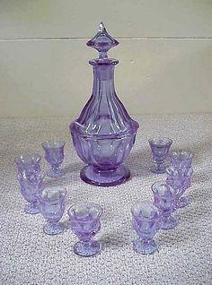 RARE Moser Alexandrite 11 Piece Decanter Set | eBay