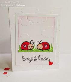 Kissing Bugs on Pinterest | Lawn Fawn, Kiss and Love Bugs