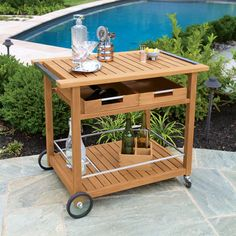 Find A Teak Buffet Table Ideal For Serving And Storage. Made With Teak Or  Granite Tops, The Buffet Table Is Perfect As A Professional Or Residential  Serving ...
