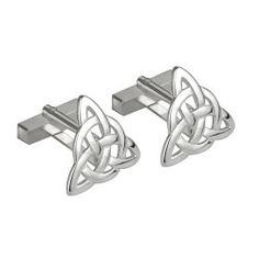 Sterling Silver Trinity Knot Cuff Links. Cool gifts for Men. Looking for the perfect gift for a husband, boyfriend, brother, son or friend? Get him a unique gift created and made in Ireland by skilled craftsmen and designers.