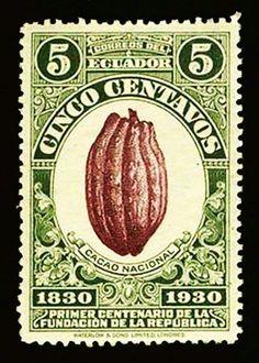 Sello postal de Ecuador...