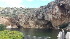 Vouliagmeni lake… one of the most notorious underwater caves in the world.